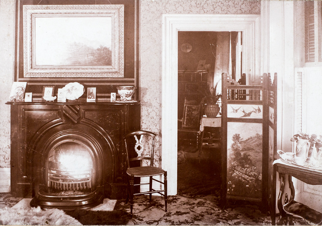 The west parlor in earlier times
