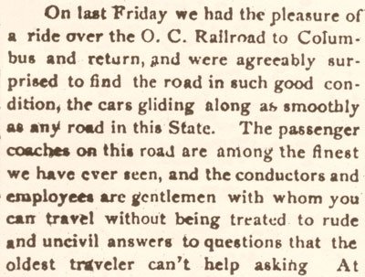 On last Friday - Excerpt from The Granville Times, March 11, 1881