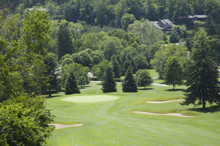 View of the 18th hole at Granville Golf Course